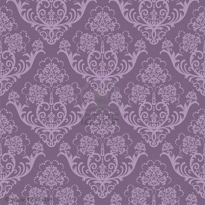 Damask Wallpaper On 5914796 Seamless Purple Floral Jpg Klem Char S
